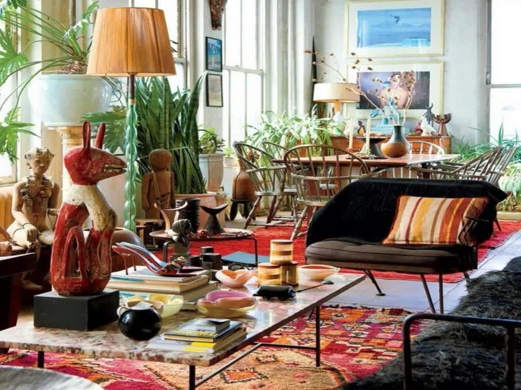 Bohemian Living Room Plants Biaf Media Home Design