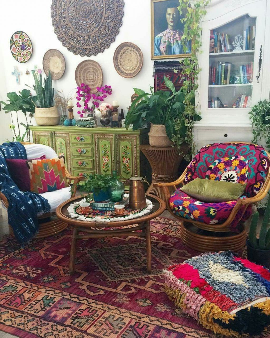 Bohemian Lots Of Color Pattern Plants Hippie Room Bohemian
