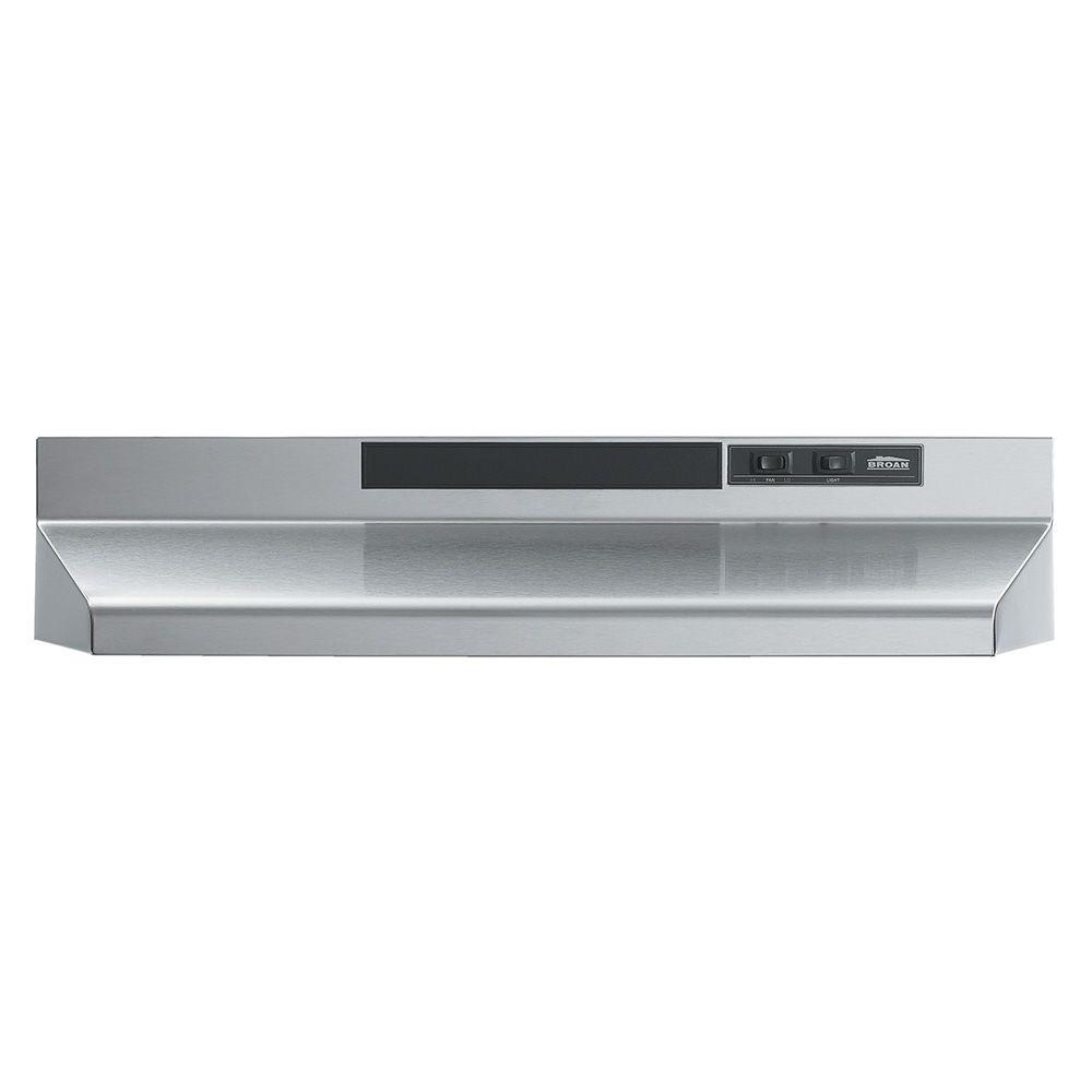 Broan F40000 Series 30 In Convertible Under Cabinet Range Hood With