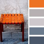 Burnt Orange Gray And Blue Palette Casamidy Palette Inspirations
