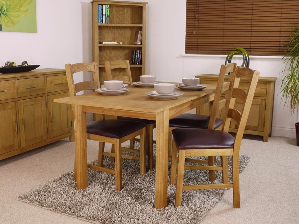 Canada Oak Dining Extending Table Extending Dining Tables