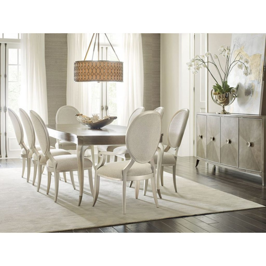 Caracole Avondale 7pc Rectangle Dining Table Set
