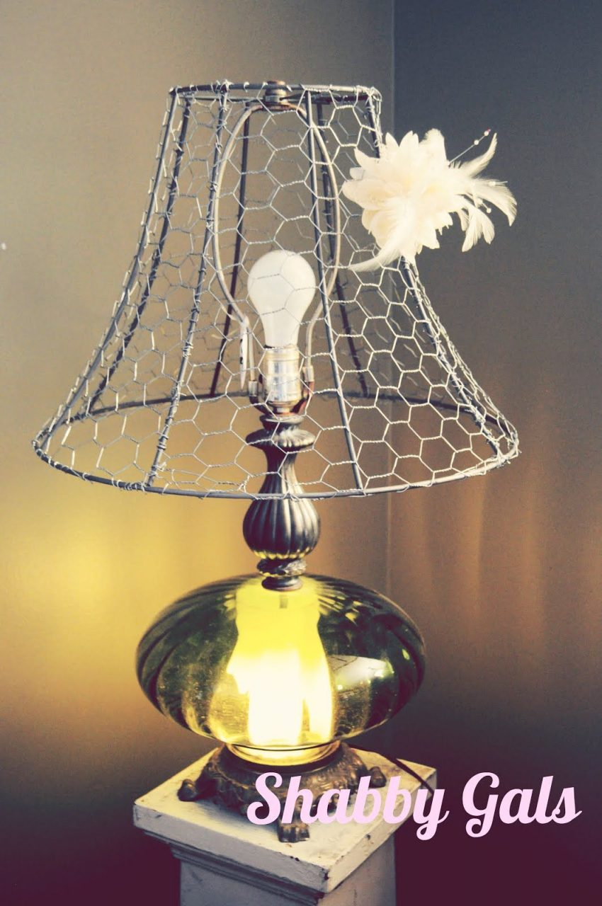 Chicken Wire Lampshade Decorative Ideas Wire