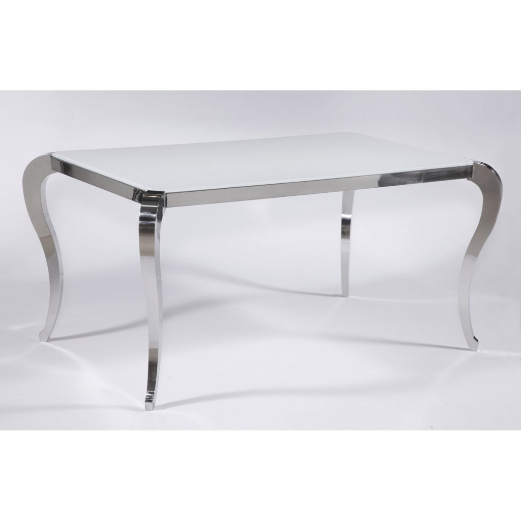 Chintaly Imports Teresa Starphire Glass Dining Table The Simple