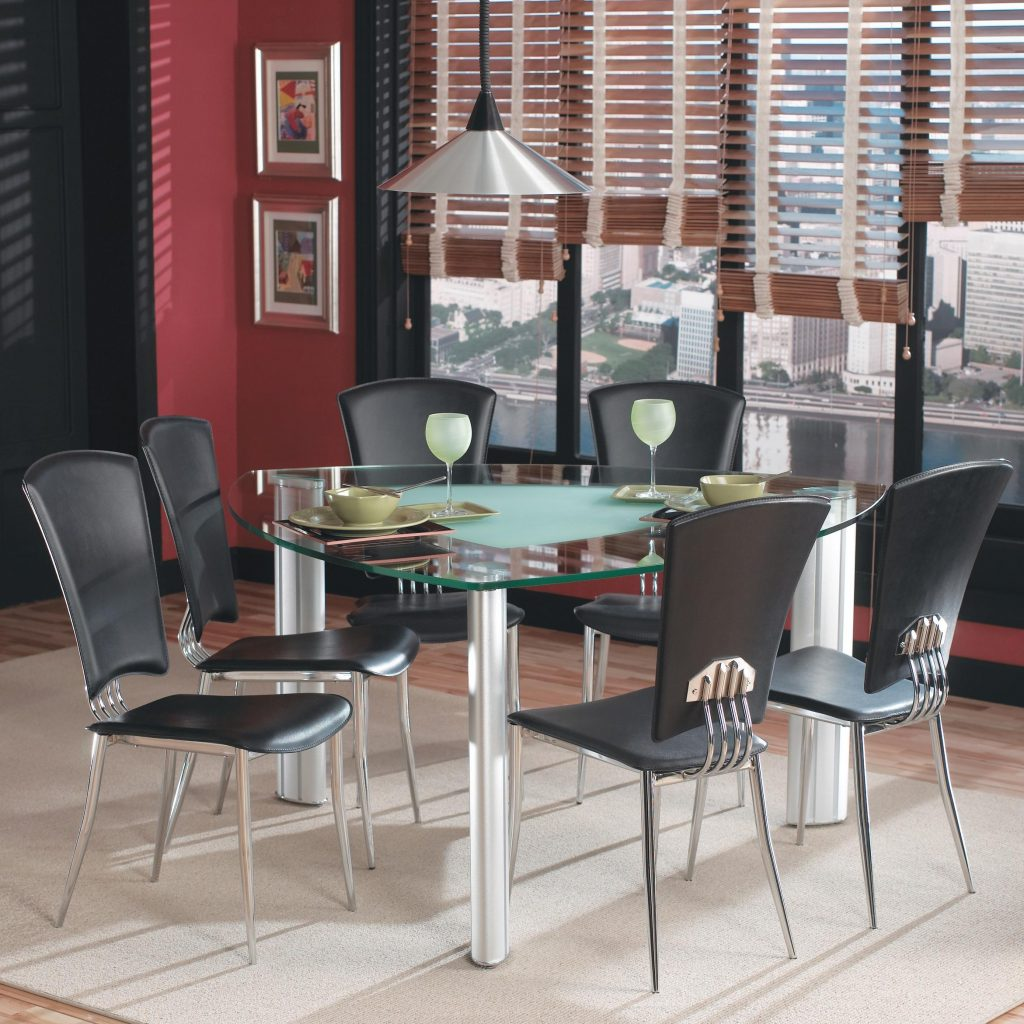 Chintaly Imports Tracy Leg Table W 6 Side Chairs Nassau Furniture