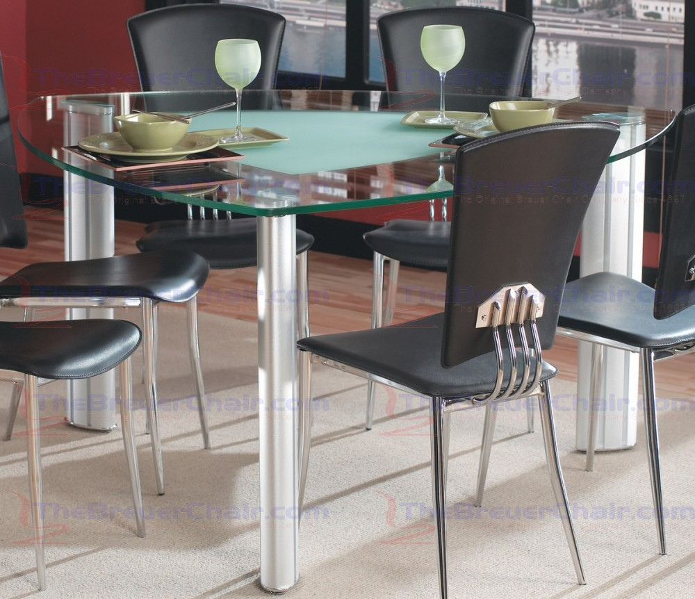 Chintaly Imports Tracy Triangle Glass Dining Table Tracy 575757 T