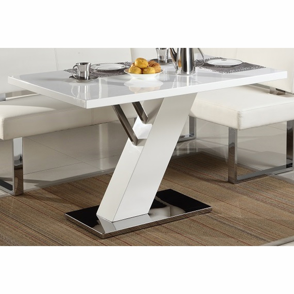 Chintaly Linden Modern Design White Dining Table Linden Dt