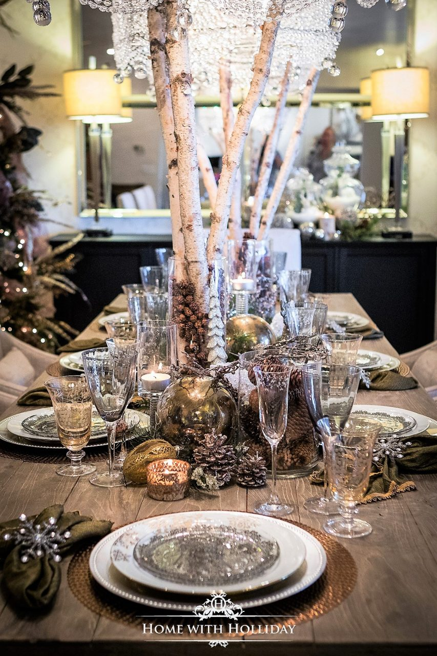 Christmas Home Tour 2017 Winter Glam Dining Room Home With Holliday