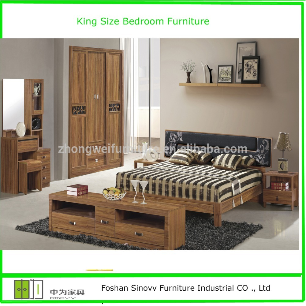 Classic Indian Style Bedroom Furniture With King Size Bedroom