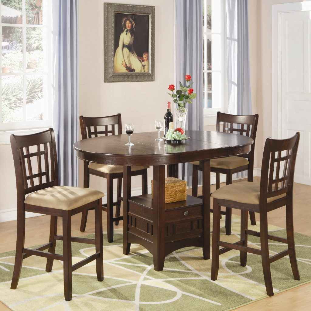 Coaster Lavon 5 Piece Counter Table And Chair Set Rooms For Less