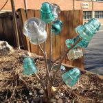 Glass Insulator Garden Art