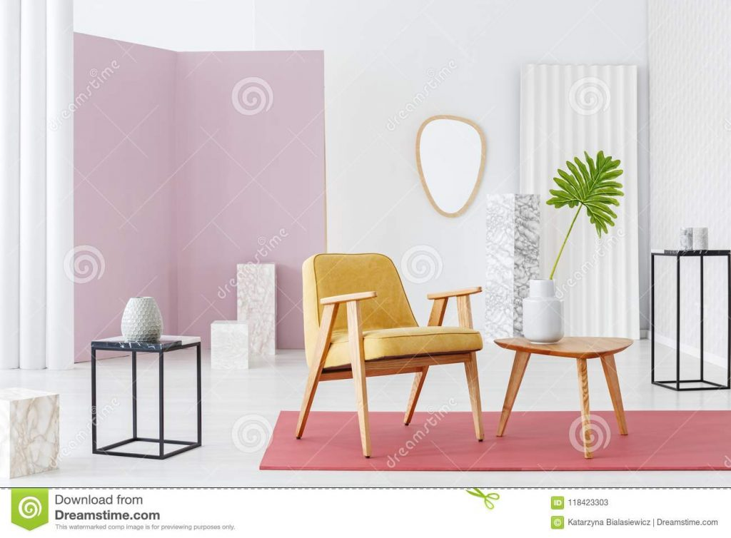 Colorful Vintage Living Room Stock Image Image Of Design Table