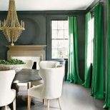Colour Crush Emerald Green Curtains Green Dining Room Emerald