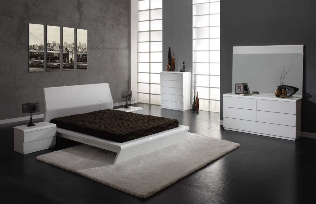 Contemporary White Bedroom Furniture Raya Furniture Stylish Black