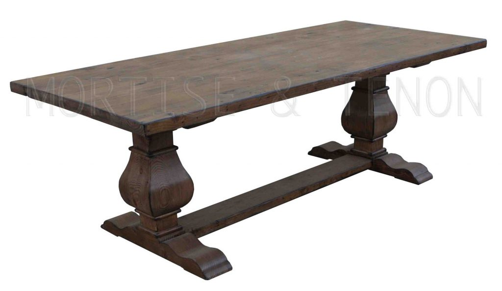 Cool Reclaimed Wood Trestle Dining Table All About House Design