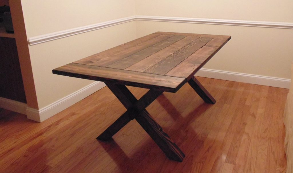 Custom Crossed Leg Trestle Style Farmhouse Table Wonderland