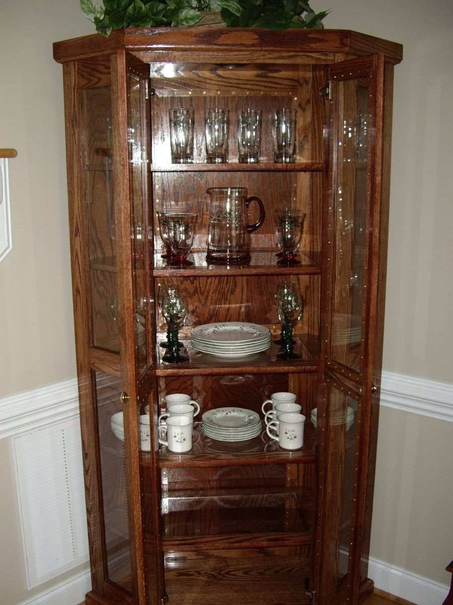 Custom Qak Corner China Cabinet D N Yager Woodworks Custommade