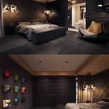 Dark Color Bedroom Decorating Ideas Shows A Luxury And Masculine