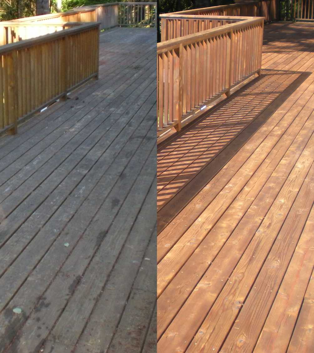Deck Restoration Before And After Abbotsford House Cleaning Services