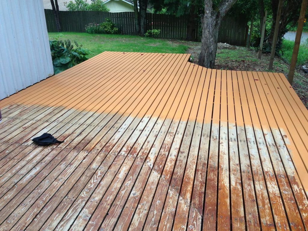 Deck Staining Behr Deckover Before After Mac Cheese