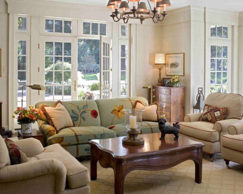 Decoration Country Style Living Room Living Room Curtains Design