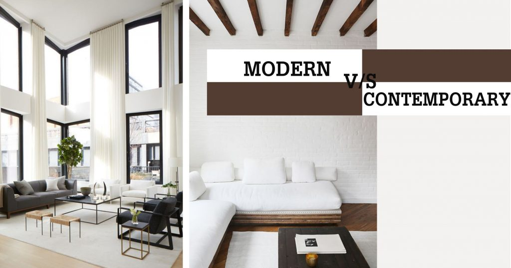 Difference Between Modern And Contemporary Interior Design