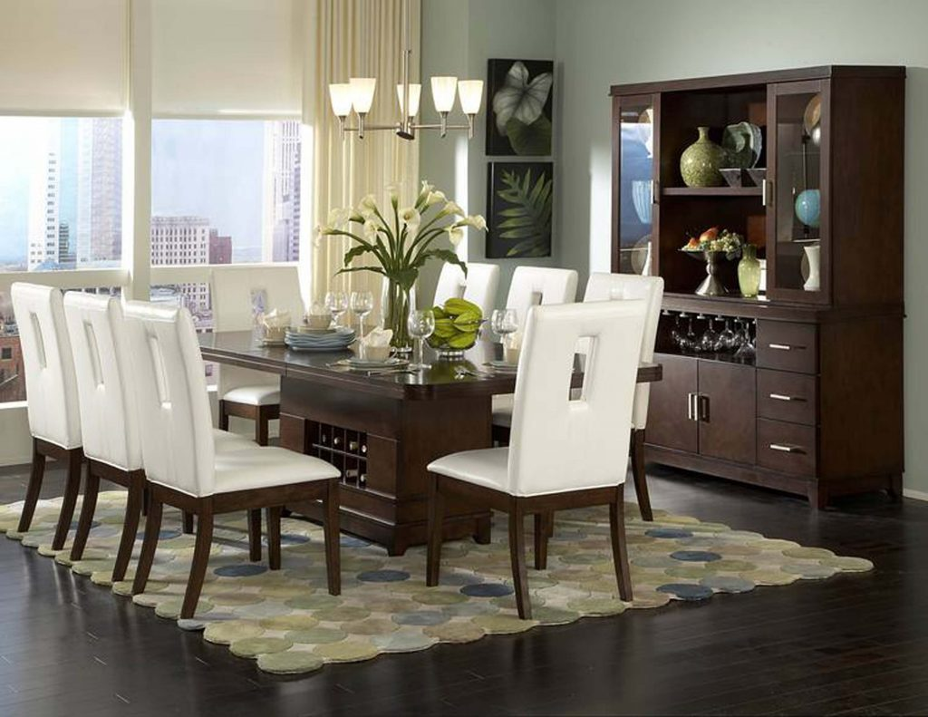 Dining Room Outstanding 8 Chair Dining Set Contemporary 8 Chair