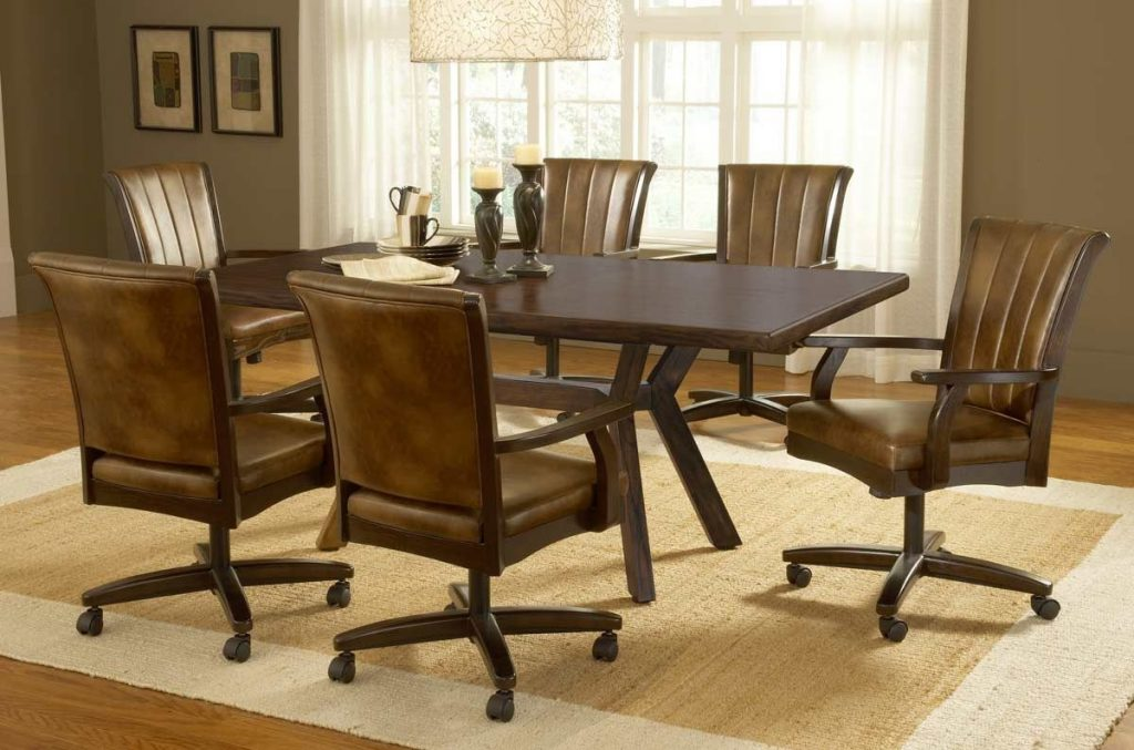 Dining Room Set Casual Dining Cushion Swivel And Tilt Rolling