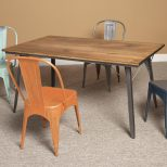 Dining Room Set Modern Metal Chairs Industrial Steel Chairs Circle