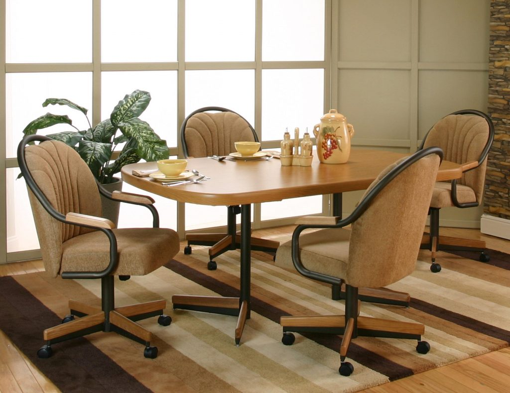 Dining Room Set Rolling Dinette Chairs Swivel Dining Chairs