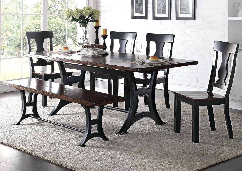 Discount Dining Room Chairs Rectangular Dining Table W 4 Side Chair