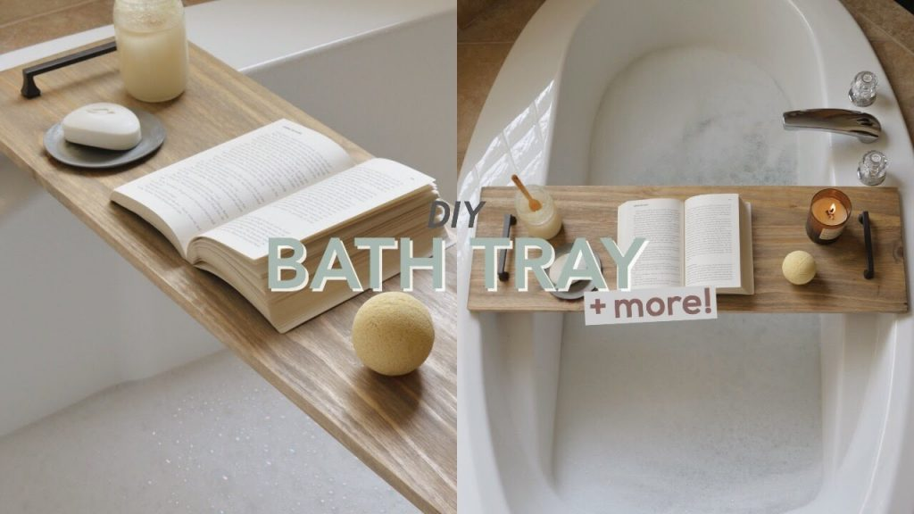 Diy Bath Tray Bathroom Decor Youtube