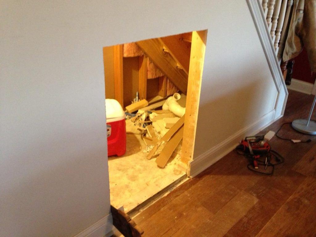 Diy Dog House Under The Stairs Tutorial The Rodimels Family Blog