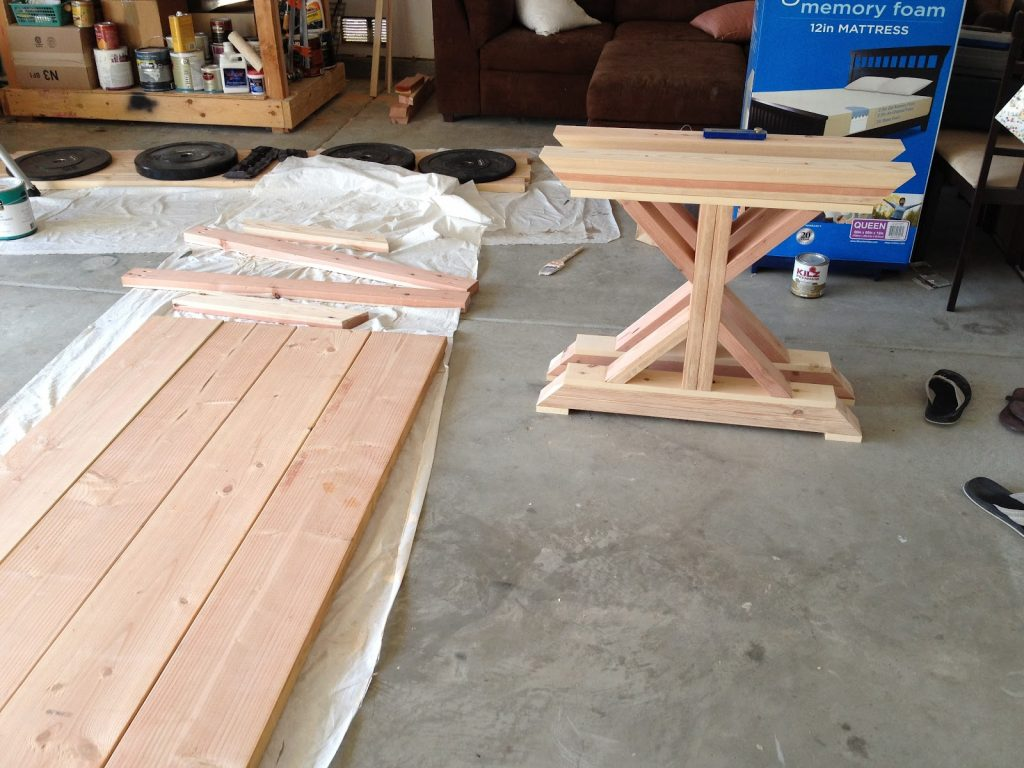 Diy Fancy X Farmhouse Table The Build A Boy A Girl And 2