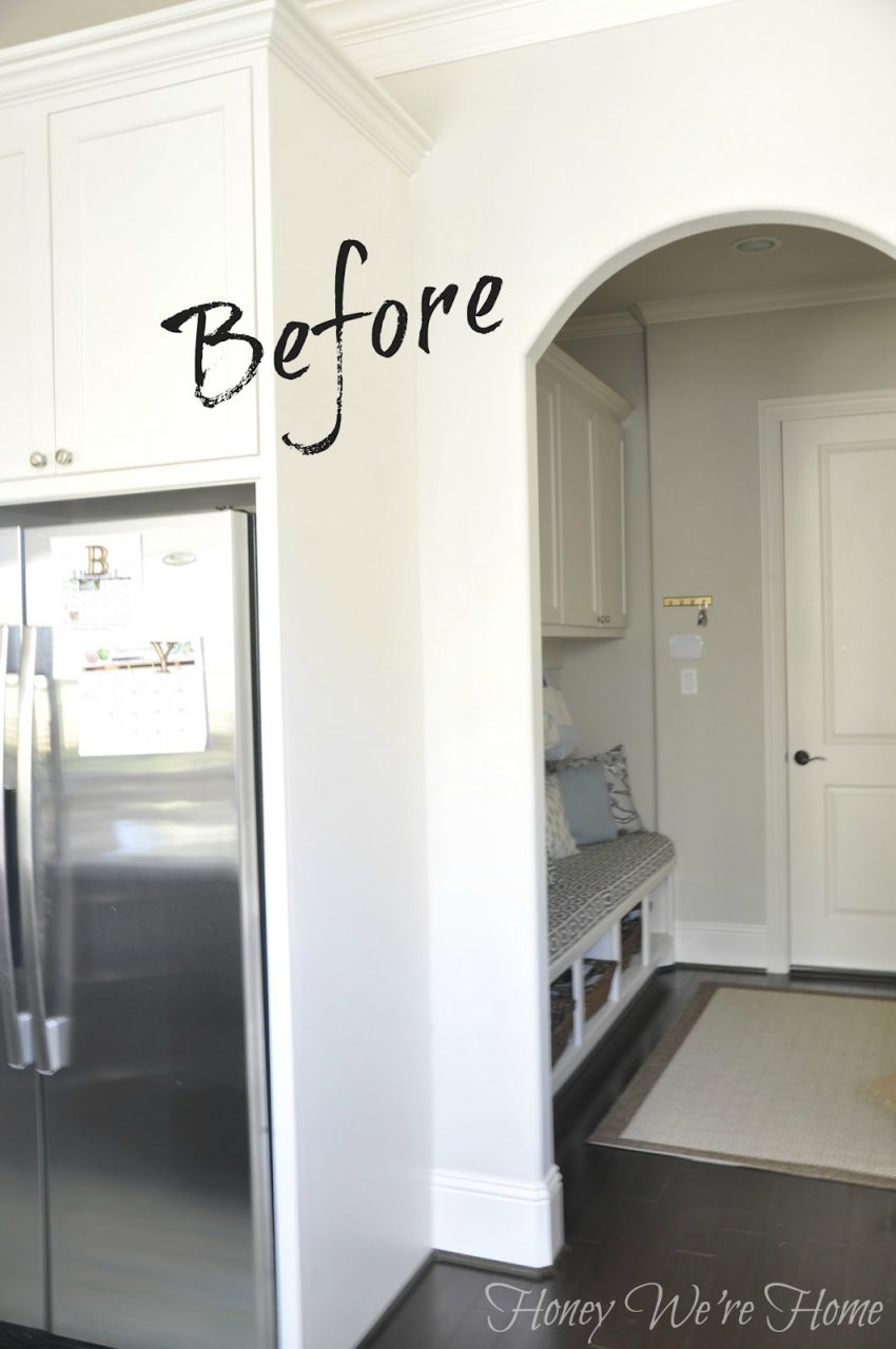 Diy Kitchen Chalkboard Wall Honey Were Home