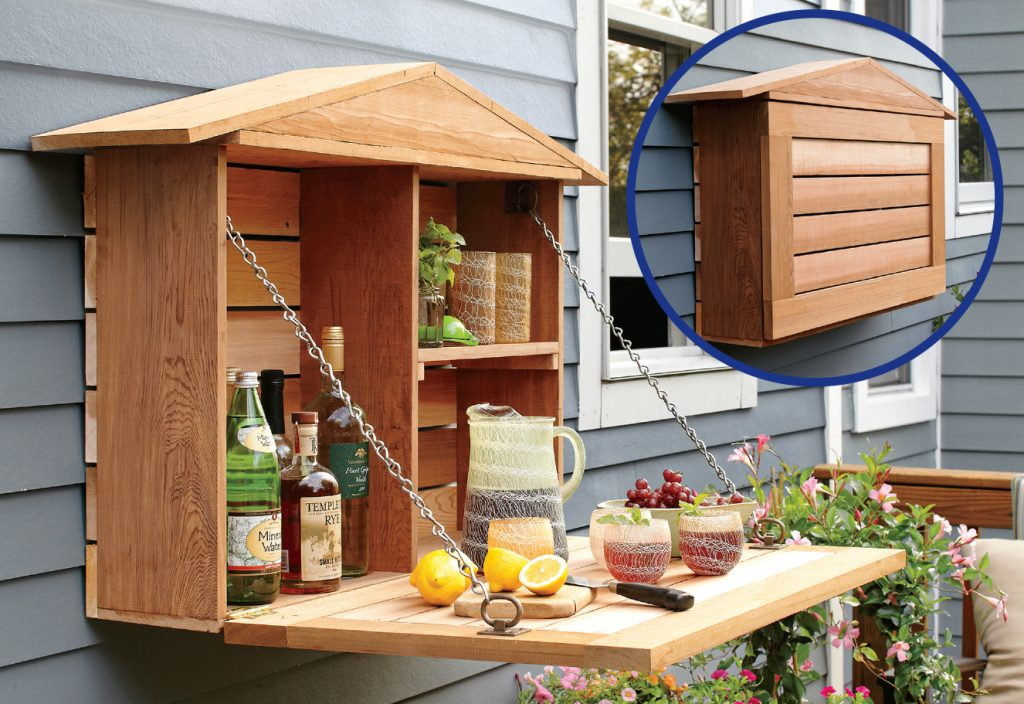 Diy Outdoor Murphy Bar Fold Down Bar Cabinet House One
