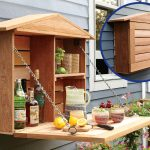 Outdoor Cabinet Fold Down Bar