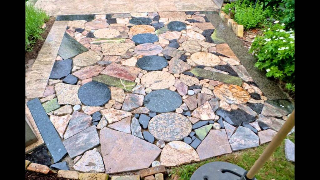 Diy Stone Patio Youtube
