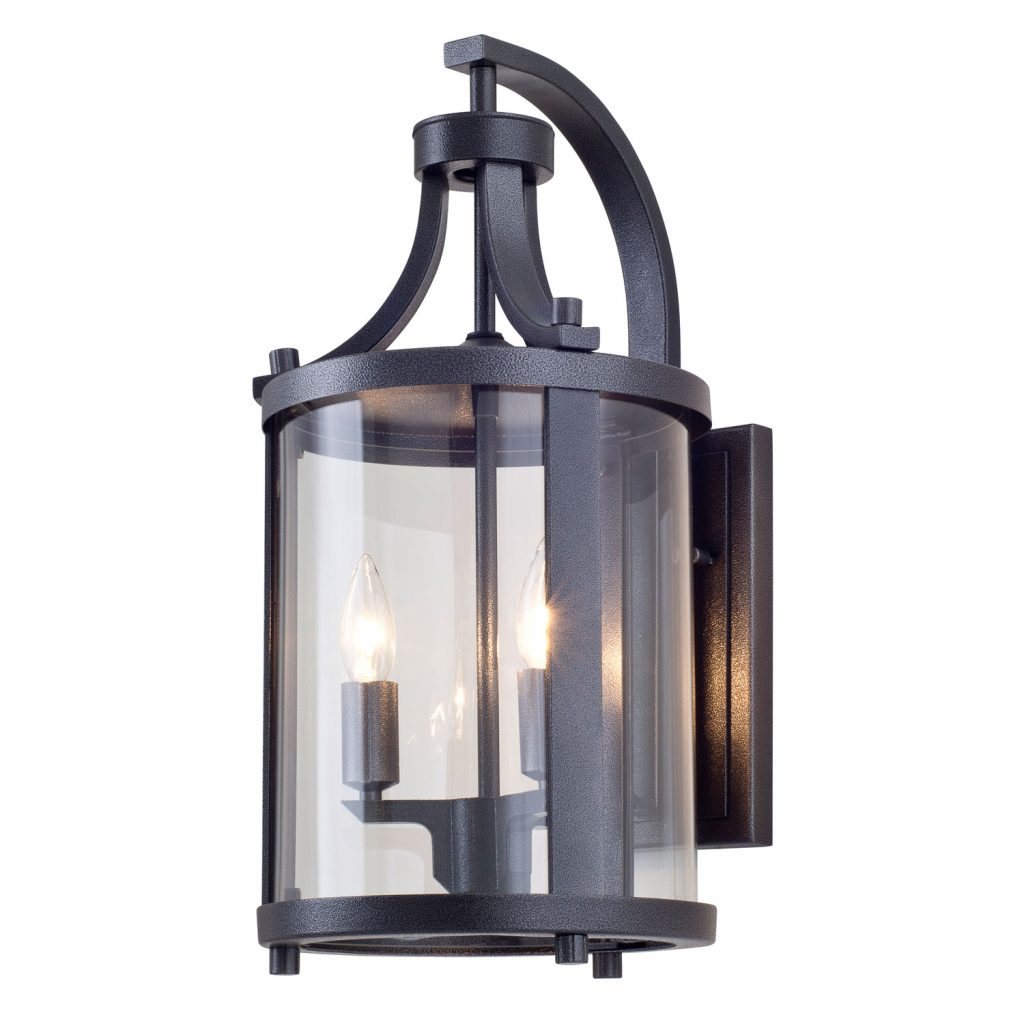 Dvi Lighting Niagara Outdoor Hammered Black Two Light Outdoor Sconce