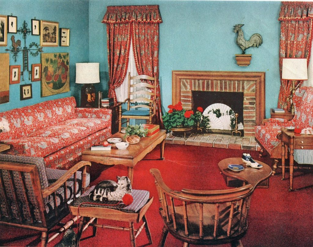 Early American 1950s Living Roomlots Of Hard Rock Maple Home