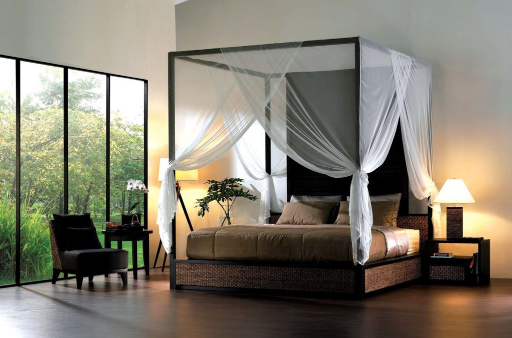 Enhance Your Fours Poster Bed With Canopy Bed Curtains Midcityeast