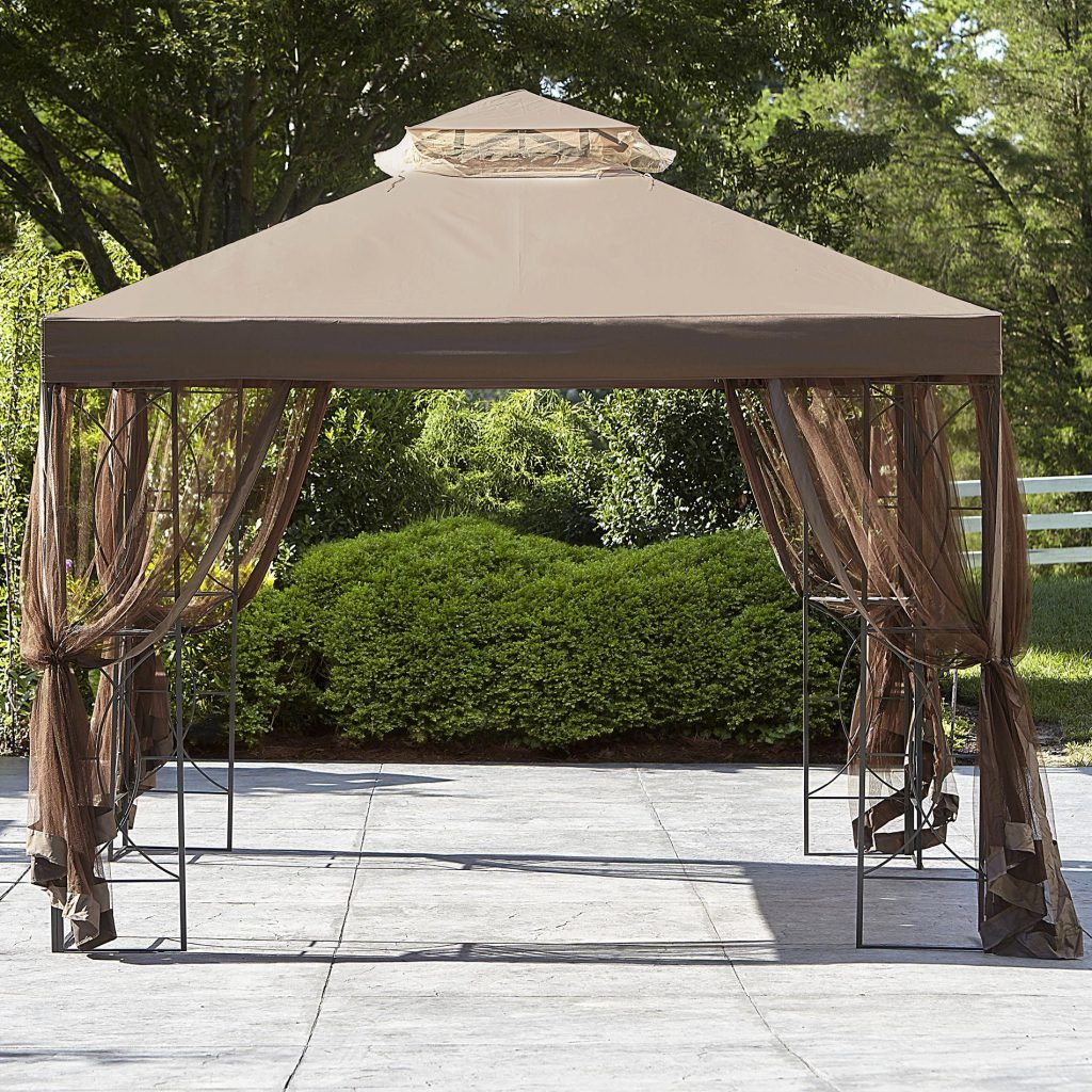 Essential Garden Replacement Canopy For 10x10 Callaway Gazebo Tan