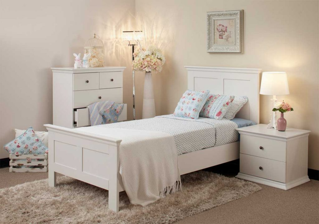 Excellent White Bedroom Furniture With Small White Cabinets