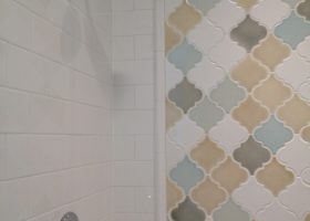 Arabesque Tile Bathroom Shower