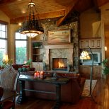 Exquisite Decoration Rustic Living Room With Fireplace Stylish Ideas
