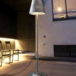 Exterior Standard Lamp With Earth Spike Great For Modern Properties