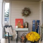 Fall Front Porch A Mix Of Diy And Rustic Decor Our House Now A Home