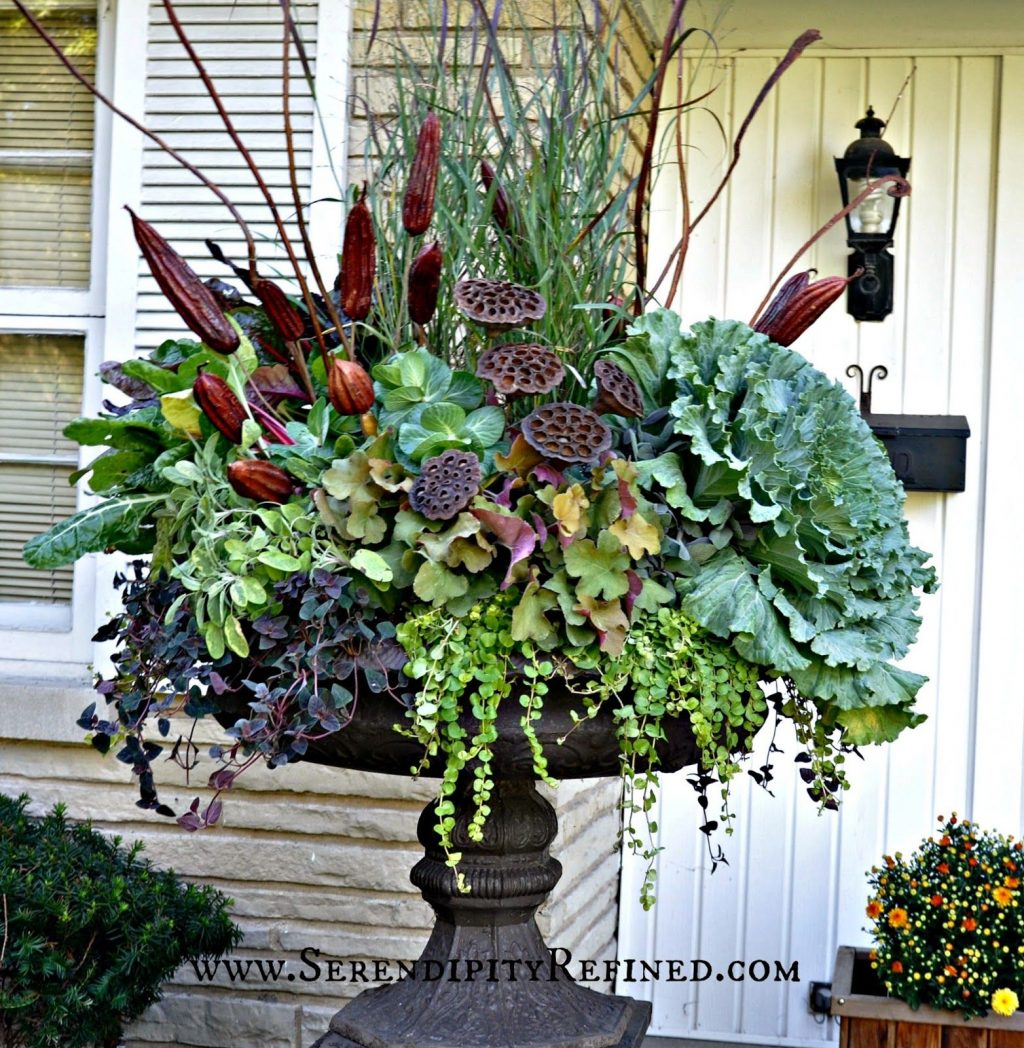 Fall Front Porch And Fabulous Urn Planter Fall Autumn
