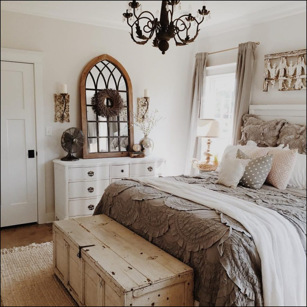 Farmhouse Chic Master Bedroom Bedroom And Bathroom Photo Gallery