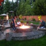 Stone Patio with Fire Pit Idea